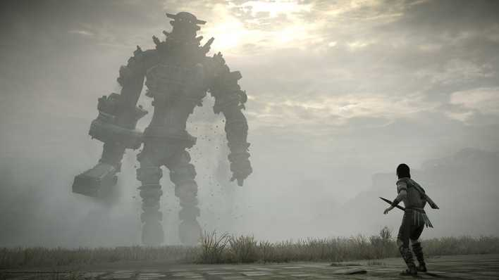 "Szene aus ""Shadow of the Colossus"""
