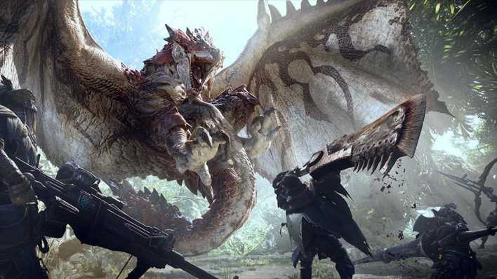 "Szene aus ""Monster Hunter World"""