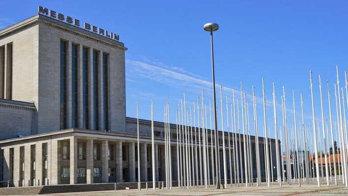 Der Eingangsbereich der Messe Berlin